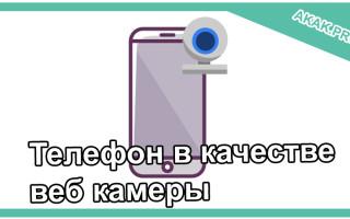 Телефон в качестве веб камеры