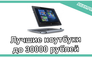 Лучшие ноутбуки до 30000 рублей